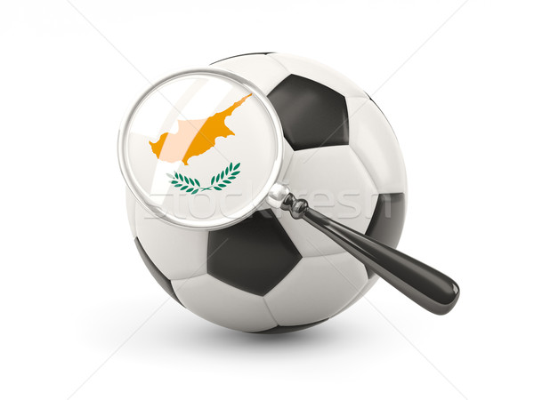 Football with magnified flag of cyprus Stock photo © MikhailMishchenko