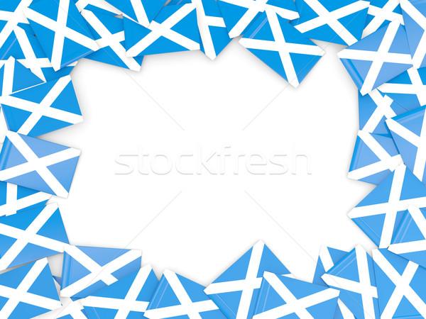Frame vlag Schotland geïsoleerd witte Stockfoto © MikhailMishchenko
