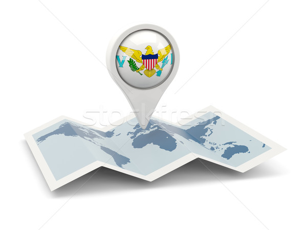 Round pin with flag of virgin islands us Stock photo © MikhailMishchenko