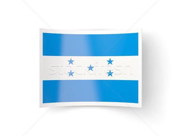 ícone bandeira Honduras isolado branco país Foto stock © MikhailMishchenko