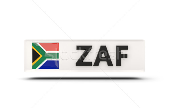 Square icon with flag of south africa Stock photo © MikhailMishchenko