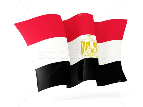 フラグ エジプト 3次元の図 孤立した 白 ストックフォト © MikhailMishchenko