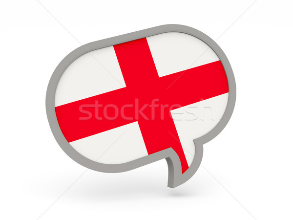 Chat icon vlag Engeland geïsoleerd witte Stockfoto © MikhailMishchenko