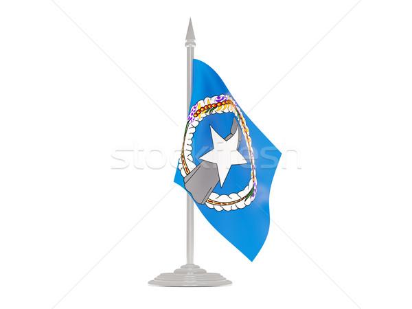 Banderą maszt 3d odizolowany Zdjęcia stock © MikhailMishchenko
