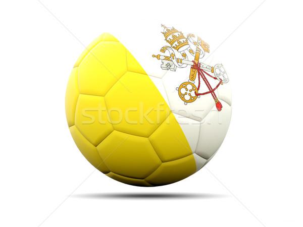 футбола флаг Ватикан 3d иллюстрации Футбол спорт Сток-фото © MikhailMishchenko