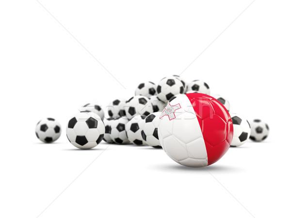 Calcio bandiera isolato bianco illustrazione 3d sport Foto d'archivio © MikhailMishchenko