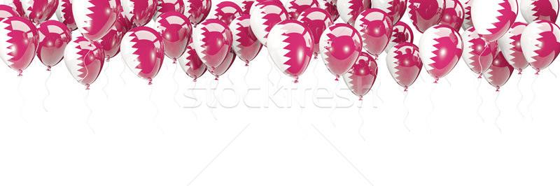 Balony ramki banderą Katar odizolowany biały Zdjęcia stock © MikhailMishchenko