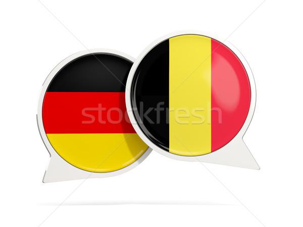 Conversar bubbles Alemanha Bélgica isolado branco Foto stock © MikhailMishchenko