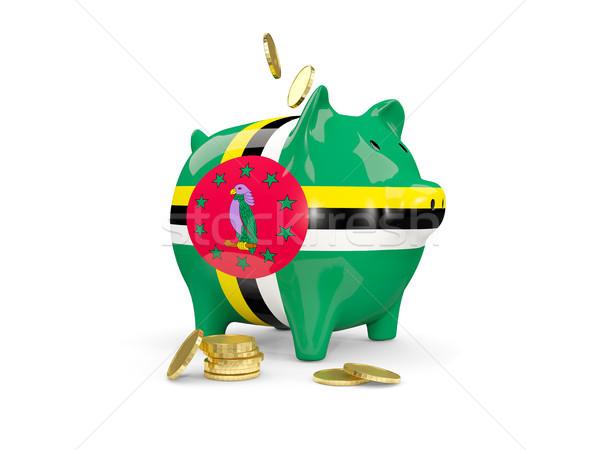Vet spaarvarken Dominica geld geïsoleerd witte Stockfoto © MikhailMishchenko