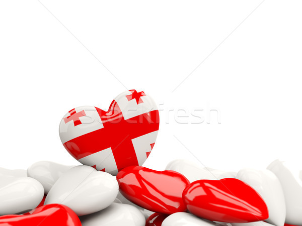 Szív zászló Grúzia felső szívek izolált Stock fotó © MikhailMishchenko