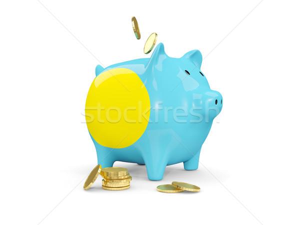 脂肪 貯金 パラオ お金 孤立した 白 ストックフォト © MikhailMishchenko