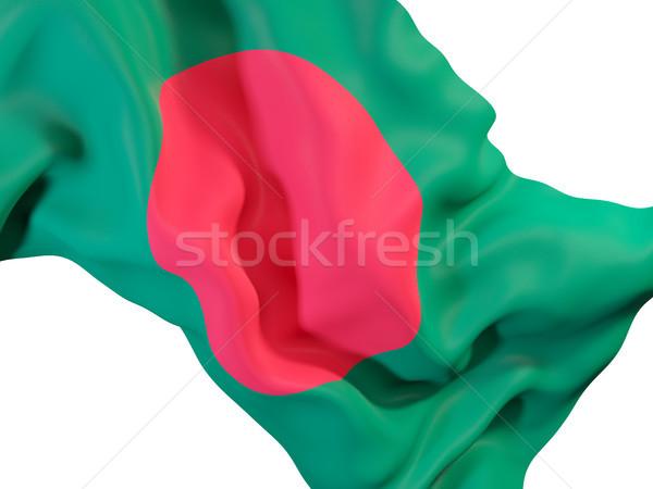 Integet zászló Banglades közelkép 3d illusztráció utazás Stock fotó © MikhailMishchenko