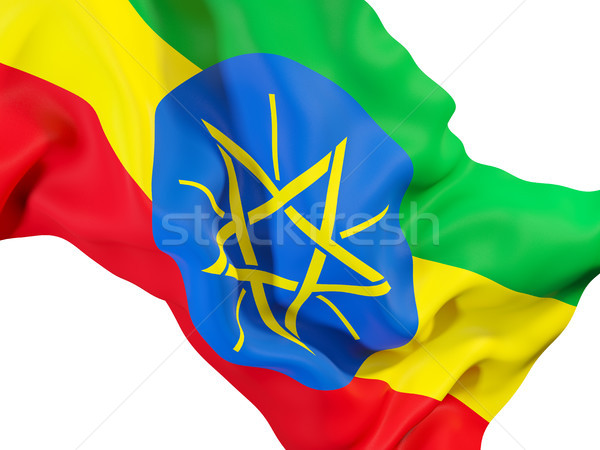 Waving flag of ethiopia Stock photo © MikhailMishchenko