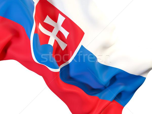 Integet zászló Szlovákia közelkép 3d illusztráció utazás Stock fotó © MikhailMishchenko