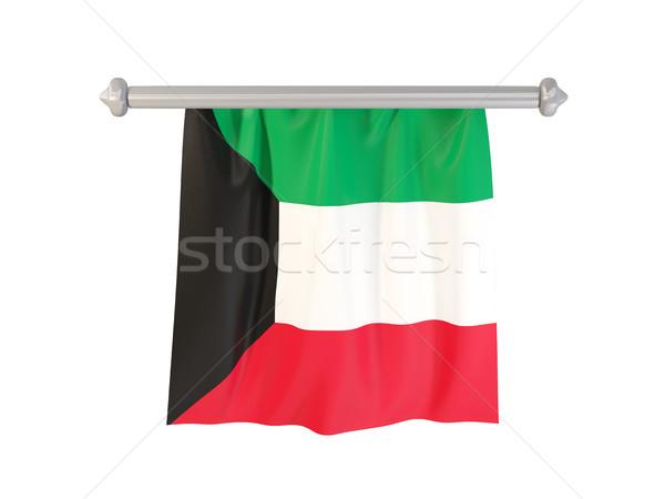 Bandiera Kuwait isolato bianco illustrazione 3d etichetta Foto d'archivio © MikhailMishchenko