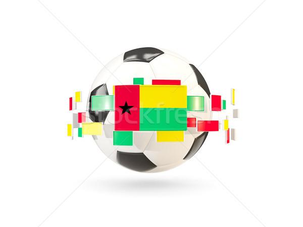 Futbol topu hat bayraklar bayrak Gine Stok fotoğraf © MikhailMishchenko