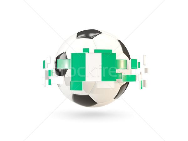 Soccer ball line bandiere bandiera Nigeria Foto d'archivio © MikhailMishchenko