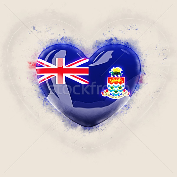 Heart with flag of cayman islands Stock photo © MikhailMishchenko
