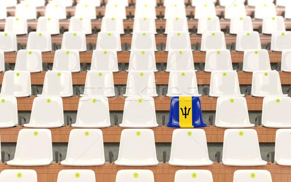 スタジアム 座席 フラグ バルバドス 白 ストックフォト © MikhailMishchenko