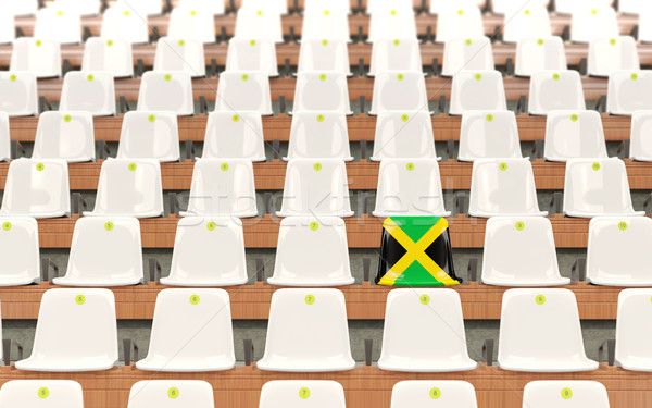 Stadyum koltuk bayrak Jamaika beyaz Stok fotoğraf © MikhailMishchenko