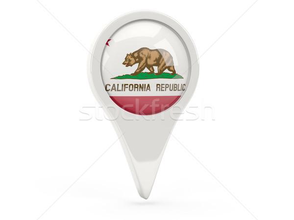 Bandeira pin Califórnia Estados Unidos local bandeiras Foto stock © MikhailMishchenko