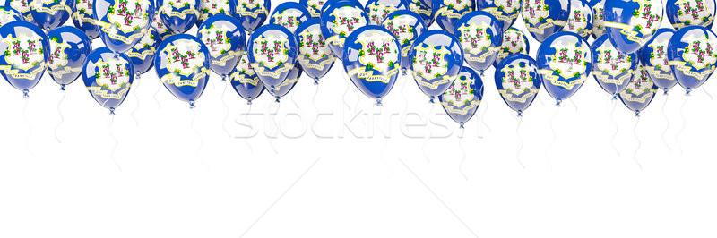 Balonlar çerçeve bayrak Connecticut Amerika Birleşik Devletleri yerel Stok fotoğraf © MikhailMishchenko