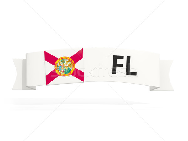 florida state flag on banner with postal abbreviation isolated o Stock photo © MikhailMishchenko