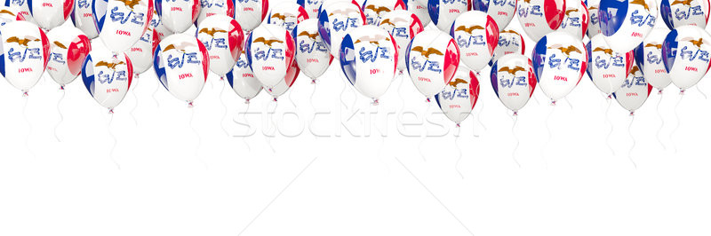Balonlar çerçeve bayrak Iowa Amerika Birleşik Devletleri yerel Stok fotoğraf © MikhailMishchenko