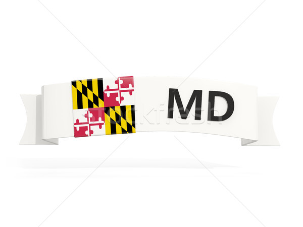 maryland state flag on banner with postal abbreviation isolated  Stock photo © MikhailMishchenko