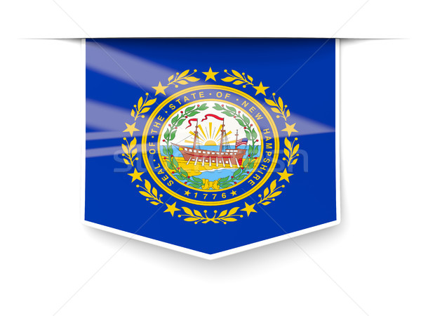 New Hampshire bayrak kare etiket gölge Amerika Birleşik Devletleri Stok fotoğraf © MikhailMishchenko