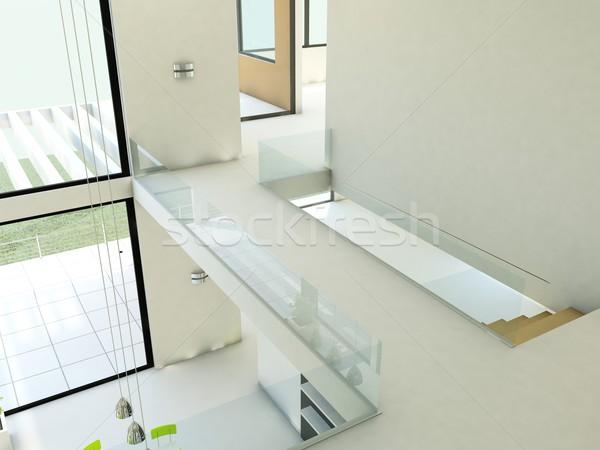 Сток-фото: пусто · квартиру · белый · стен · здании · свет