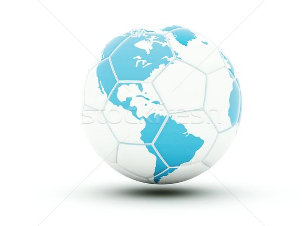 Futball világtérkép izolált fehér földgömb sport Stock fotó © MikhailMishchenko