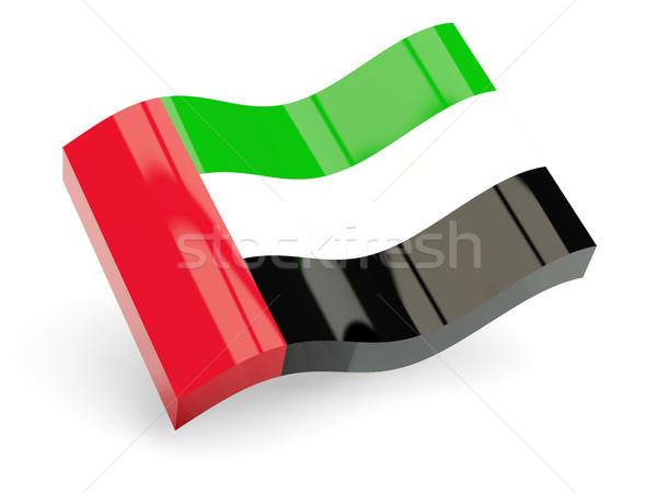 3d flag of united arab emirates Stock photo © MikhailMishchenko