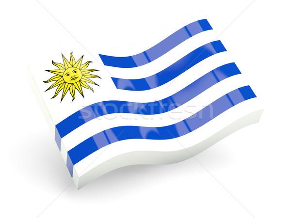 3D bandeira Uruguai isolado branco viajar Foto stock © MikhailMishchenko