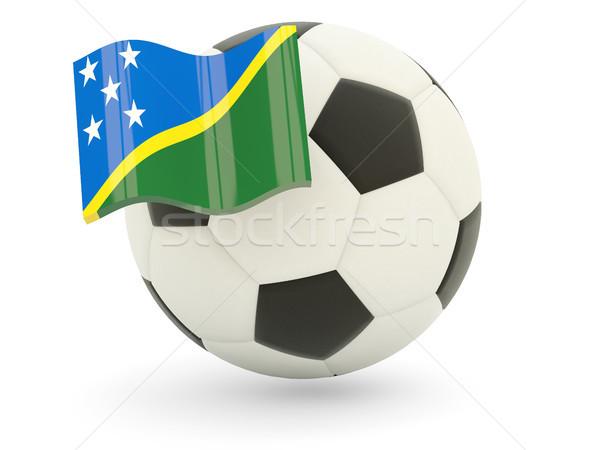 Football with flag of solomon islands Stock photo © MikhailMishchenko