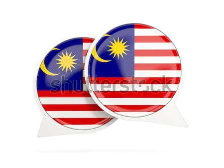 Futebol bandeira Malásia grama verde futebol campo Foto stock © MikhailMishchenko