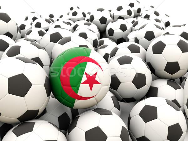 футбола флаг Алжир регулярный лет Сток-фото © MikhailMishchenko