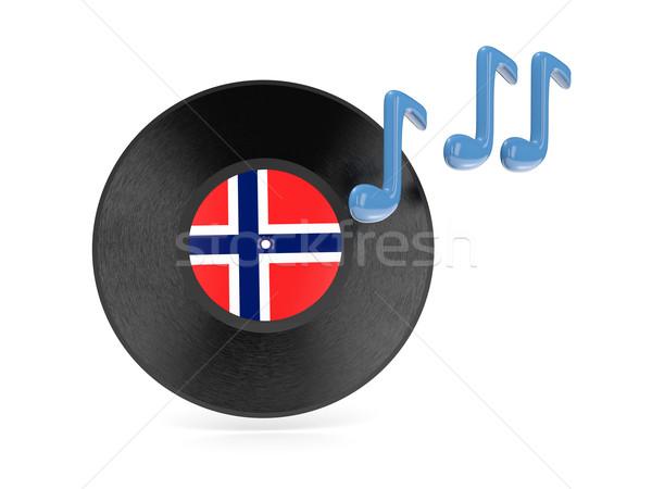 виниловых диск флаг Норвегия изолированный белый Сток-фото © MikhailMishchenko