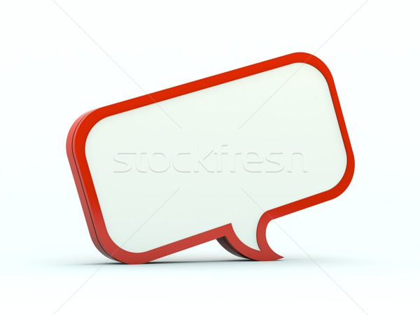 Chat bubble icon Stock photo © MikhailMishchenko