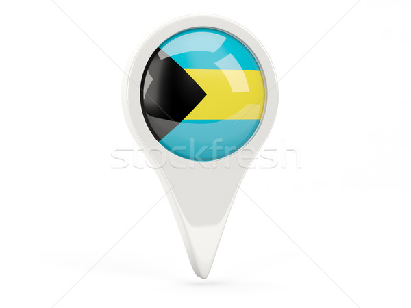 Round flag icon of bahamas Stock photo © MikhailMishchenko