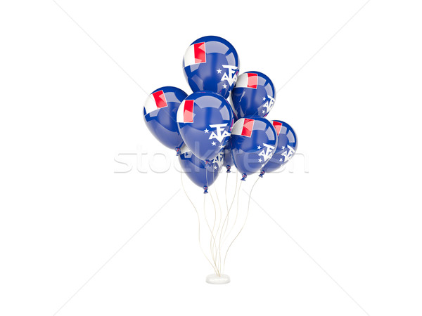 Stock photo: Flying balloons with flag of french southern territories
