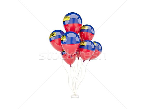 Flying balloons with flag of liechtenstein Stock photo © MikhailMishchenko