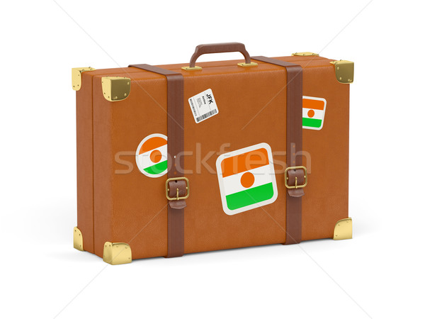 чемодан флаг Нигер путешествия изолированный белый Сток-фото © MikhailMishchenko
