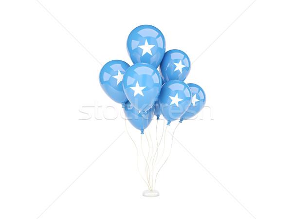 Battant ballons pavillon Somalie isolé blanche Photo stock © MikhailMishchenko
