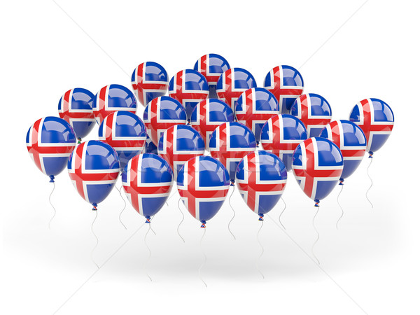 Balloons with flag of iceland Stock photo © MikhailMishchenko