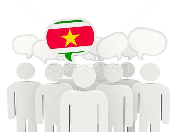 люди флаг Суринам изолированный белый заседание Сток-фото © MikhailMishchenko