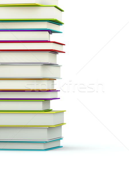 Colored books isolated on white Stock photo © MikhailMishchenko