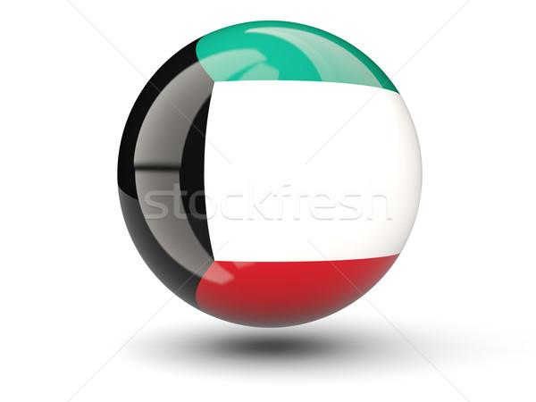 икона флаг Кувейт изолированный белый путешествия Сток-фото © MikhailMishchenko