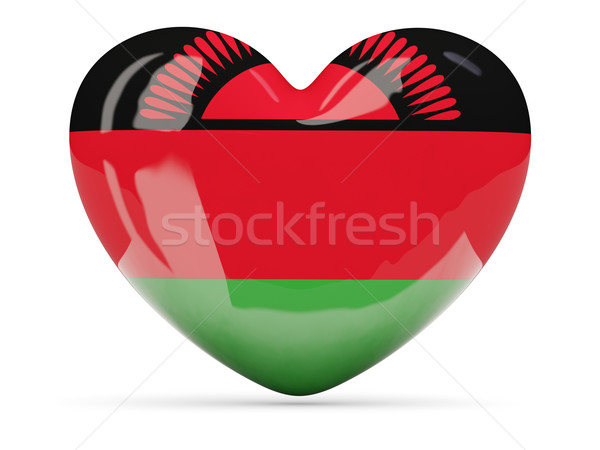 Heart shaped icon with flag of malawi Stock photo © MikhailMishchenko