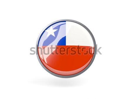 Ikon zászló Chile fém keret utazás Stock fotó © MikhailMishchenko